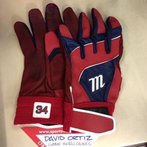 David Ortiz Game Worn Batting Gloves