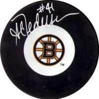 Allen Pedersen Boston Bruins Puck