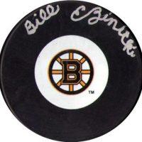 Bill-Ezinicki-Autographed-Boston-Bruins-Hockey-Puck-NHL-001