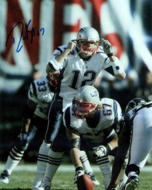 Dan Koppen Autographed 8x10 Photo New England Patriots