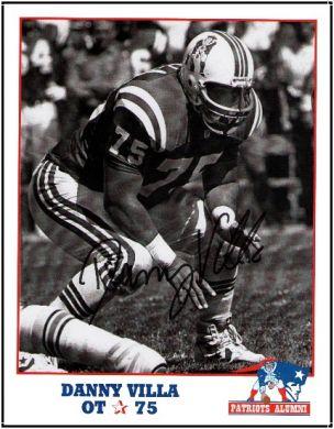 Danny-Villa-Autographed-New-England-Alumni-Patriots-8x10-Photo