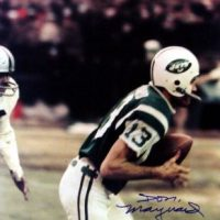 Don Maynard Autographed New York Jets 16x20 Photo