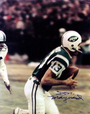 Don Maynard Autographed New York Jets 16x20 Photo