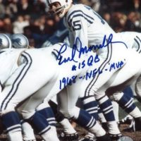 Earl Morrall Autographed Baltimore Colts 8x10 Photo