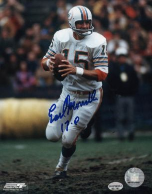 Earl Morrall Autographed Miami Dolphins 8x10 Photo