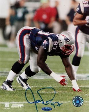 Jarvis Green Autographed New England Patriots 8x10 Photo