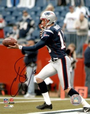 Ken Walter Autographed Patriots 8x10 Color Photo