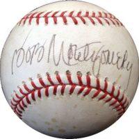 bob mongomery autographed baseball
