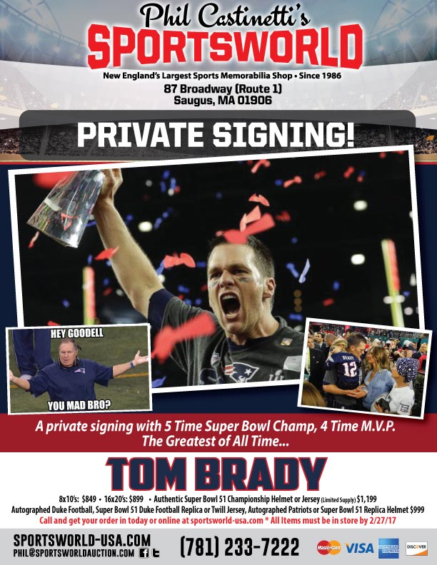 Tom Brady private signing