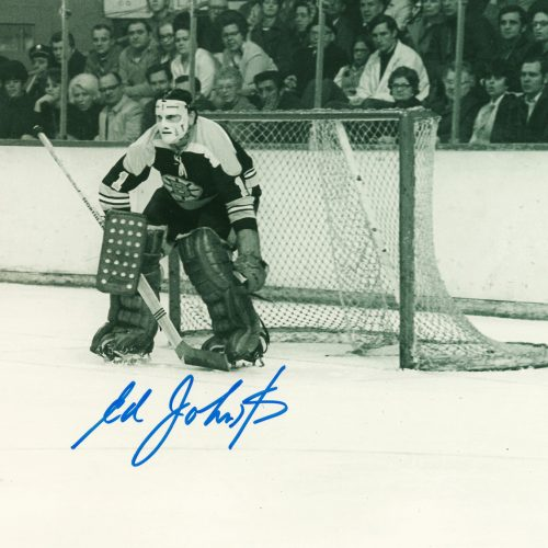 Ed Johnston Autographed 8×10