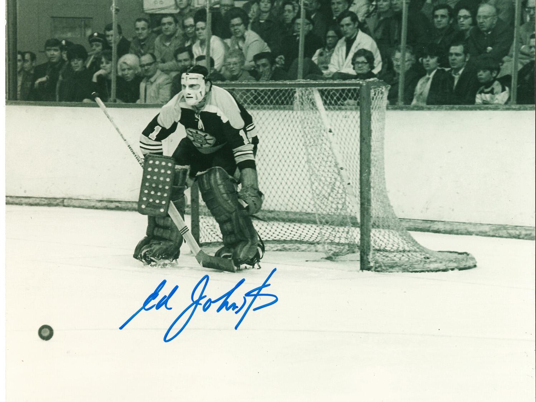 Ed Johnston Autographed 8×10