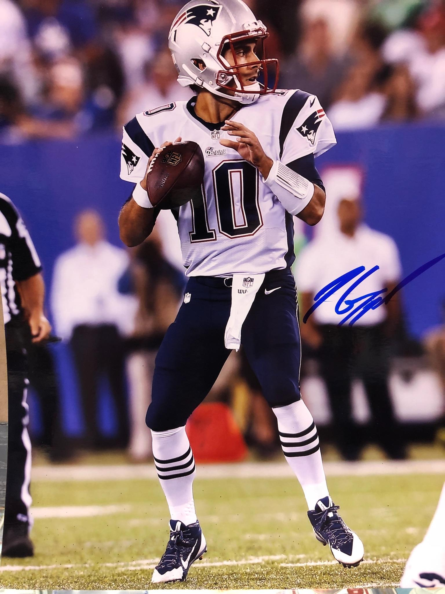 5ce0c7694 Former New England Patriots Quarterback – Jimmy Garoppolo Private Signing.