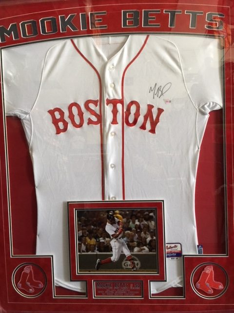 Mookie Betts Boston Red Sox Autographed Framed Jersey - Sportsworld ...