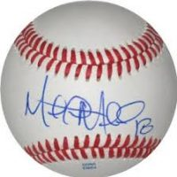 Mitch Moreland Autographed Baseball