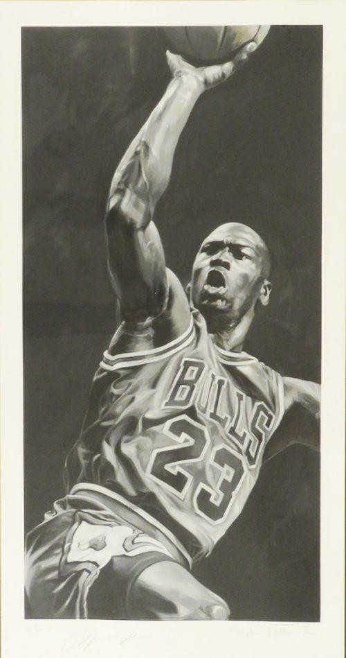 Michael Jordan Signed Lithograph