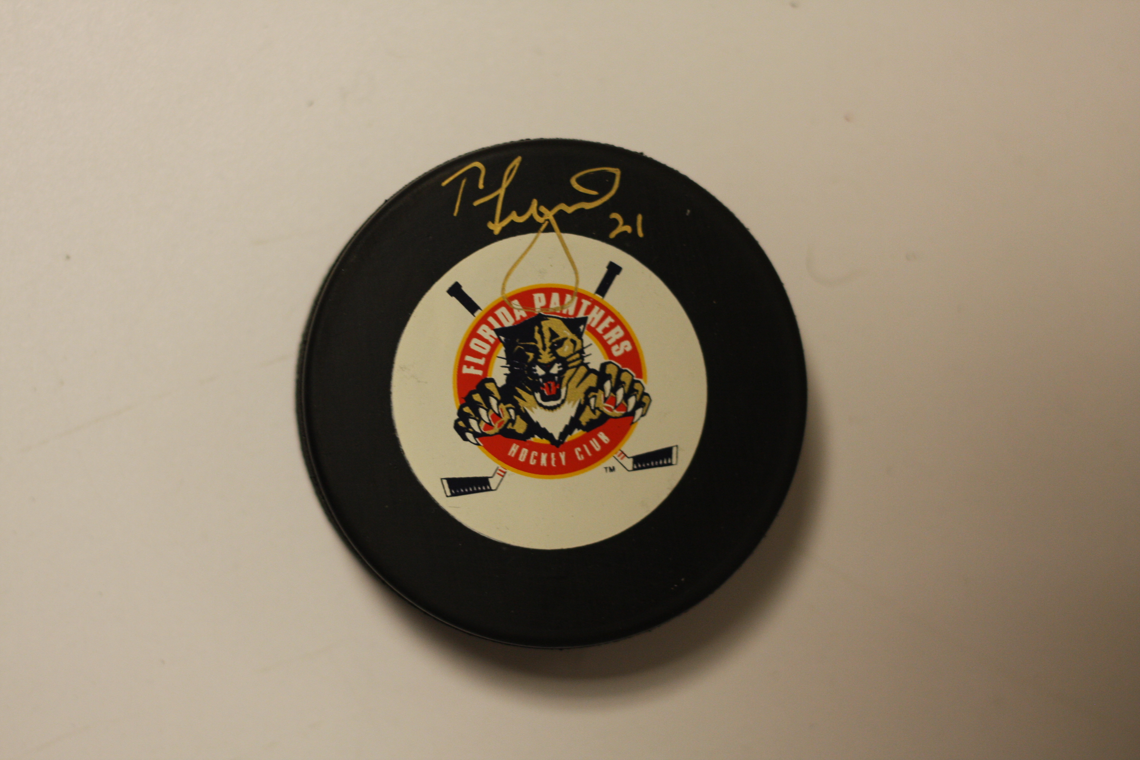 finest selection 94ae5 d51d6 Tom Fitzgerald signed Florida Panthers puck