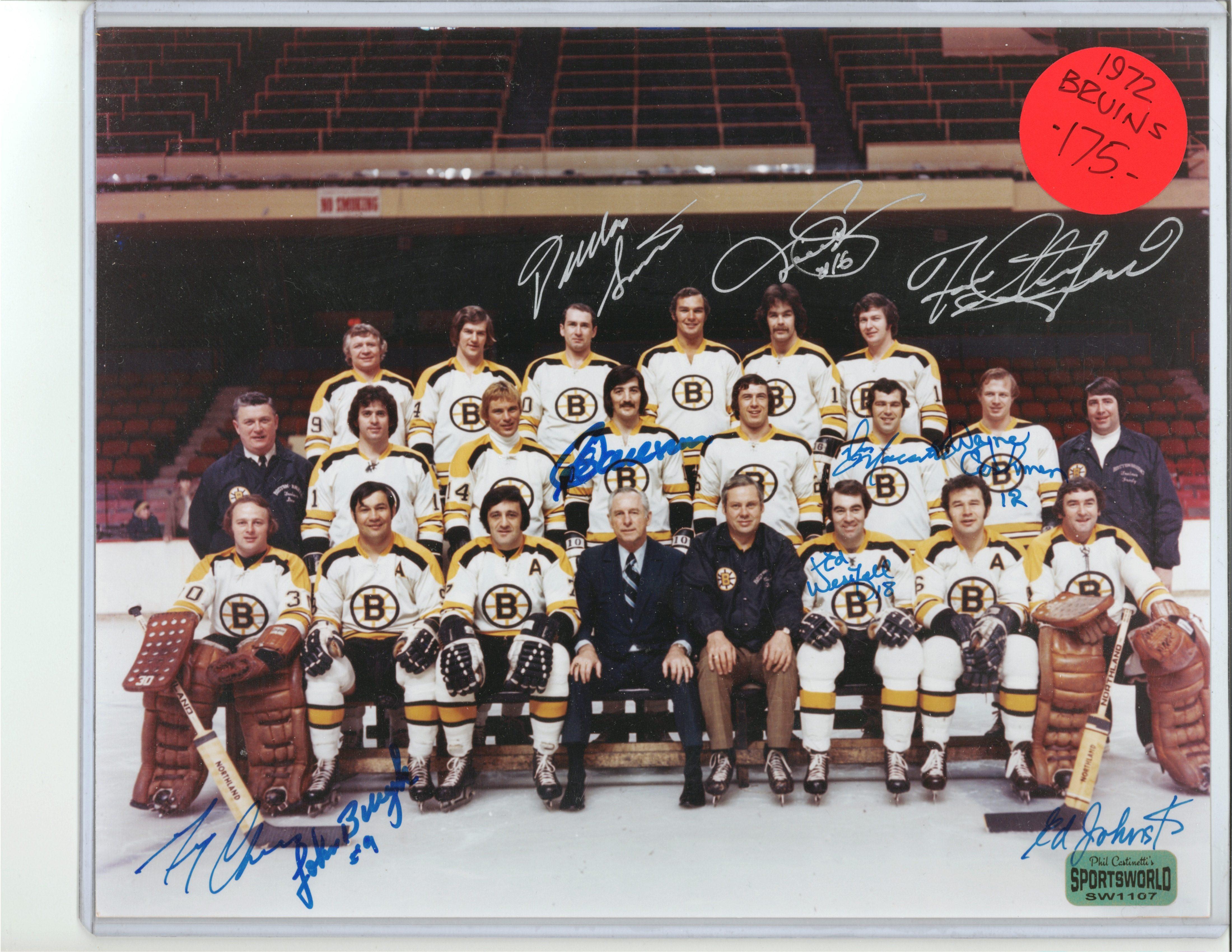 newest 80587 e78eb 1972 Team signed 8X10 Boston Bruins