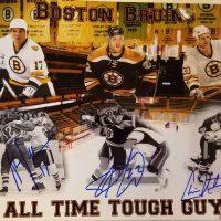 boston bruins autographed print