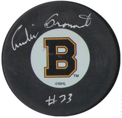 Andre Pronovost autographed puck