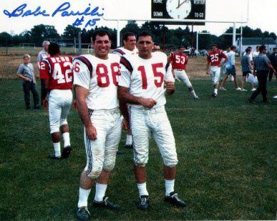 Babe Parilli Autographed Boston Patriots 8x10 Photo