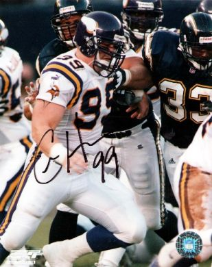 Chris-Hovan-Autographed-Minnesota-Vikings-Photo