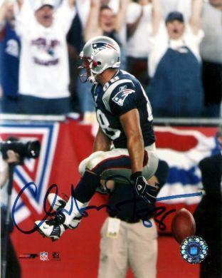 Christian Fauria Autographed 8x10 Patriots Photo