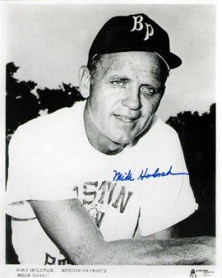 Mike Holovak Autographed Boston Patriots 8x10 Photo