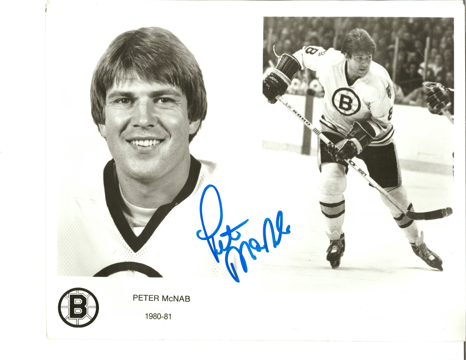 Peter McNab autographed 8x10