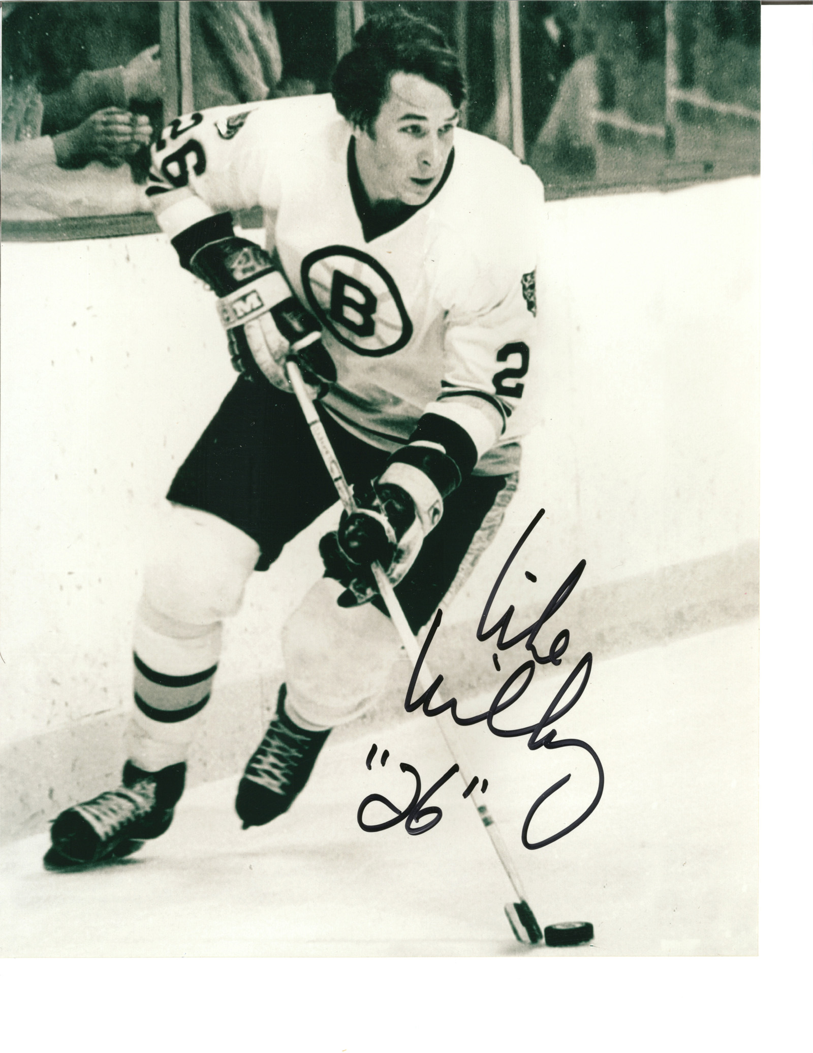 Mike Milbury autographed 8x10